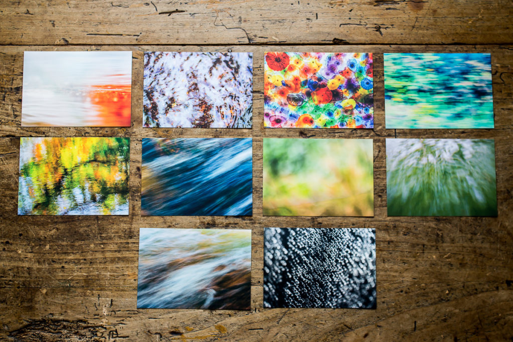 10 Postcards with abstract images